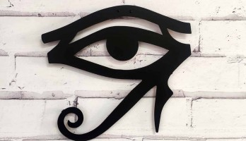 World Horus' Un Gözü Lazer Kesim Metal Tablo