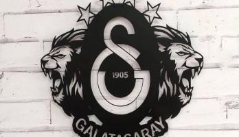 Galatasaray Amblem ve Arslanlar Metal Tablo