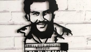 Pablo Escobar Medellin Metal Tablo