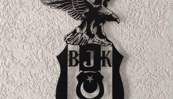 Beşiktaş Kartal Amblem Lazer Kesim Metal Tablo