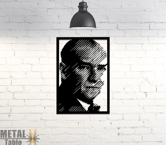 Atatürk Portre Lazer Kesim Metal Tablo