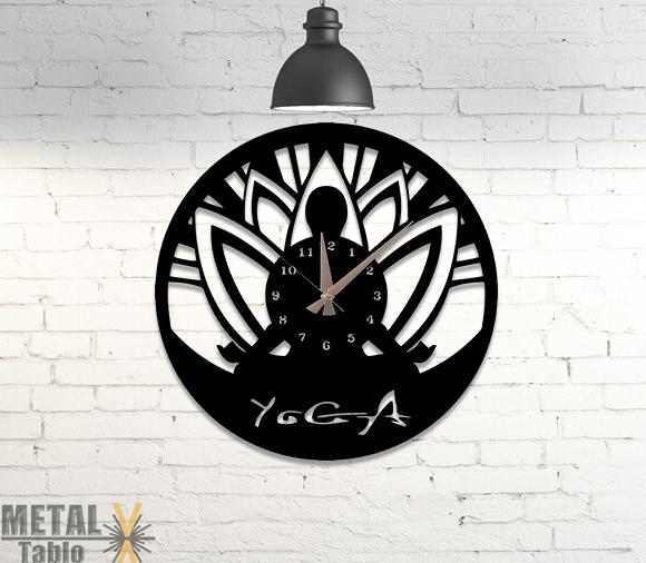 Yoga Salonlarına Özel Metal Duvar Saati