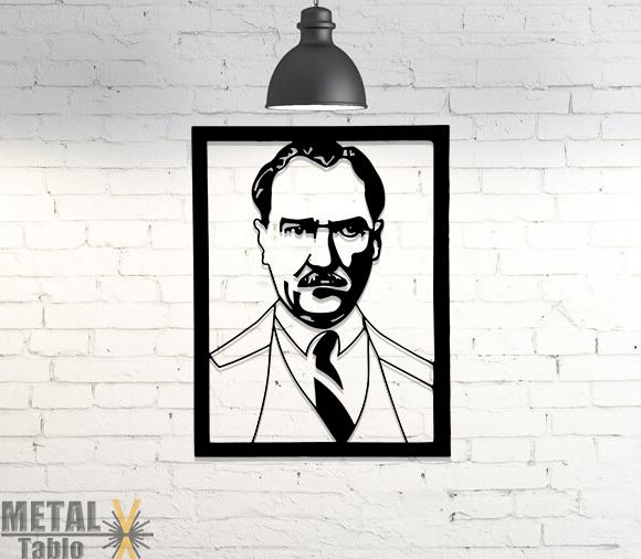 Mustafa Kemal Atatürk Portre Metal Tablo