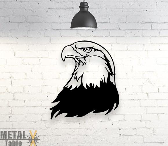 Kartal Başı Eagle Beşiktaş Lazer Kesim Metal Tablo