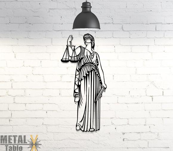 Adalet ve Düzen Tanrıçası Themis Metal Tablo