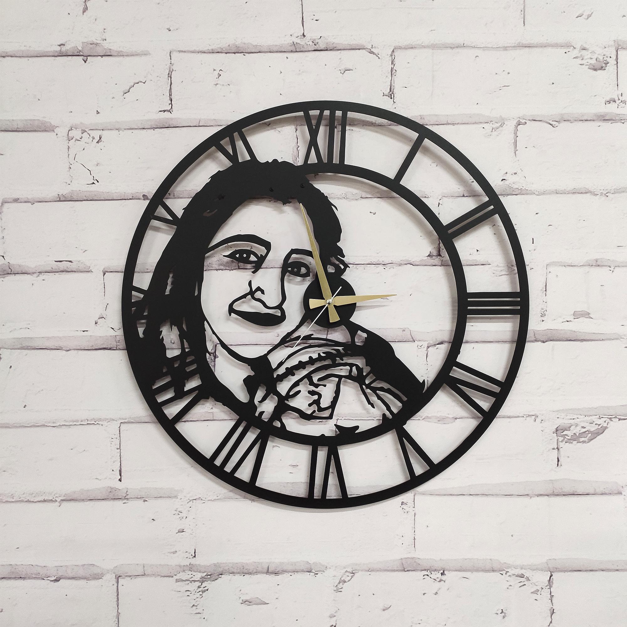 Kişiye Özel Portre Lazer Kesim Metal Duvar Saati