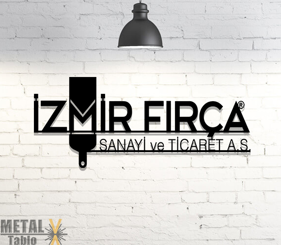 İzmir Fırça Lazer Kesim Metal Tablo