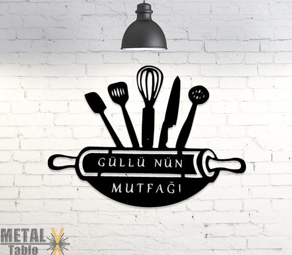 Güllünün Mutfağı Lazer Kesim Metal Dekor Tablo