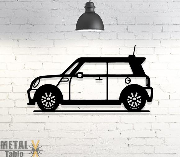 Mini Cooper Araba Metal Tablo