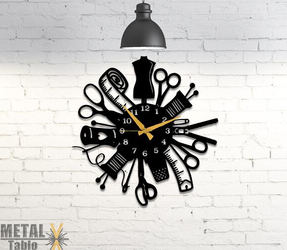 Terzilere Özel Tasarım Metal Duvar Saati