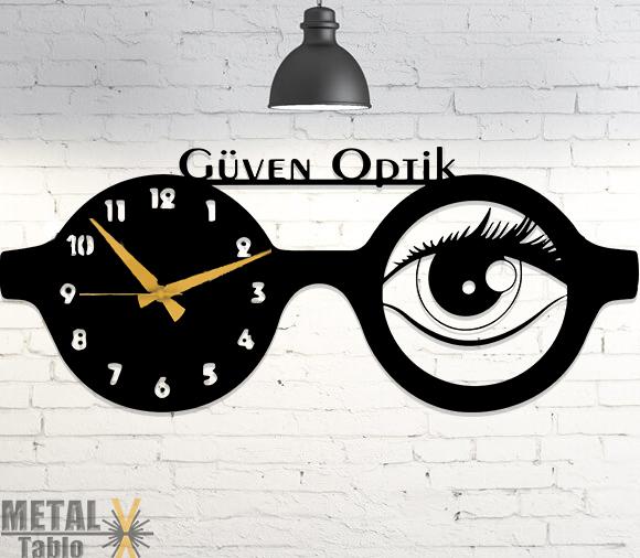 Optikçilere (Gözlükçülere) Özel Tasarım Metal Tablo