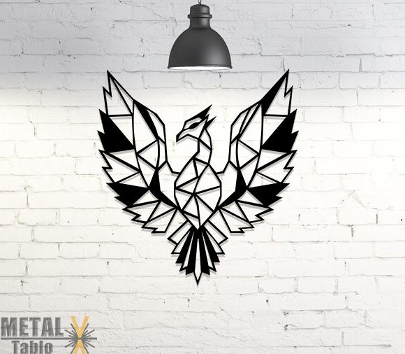 Anka Kuşu Lazer Kesim Metal Tablo