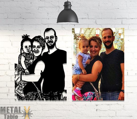 Ailelere Özel Metal Lazer Kesim Metal Tablolar