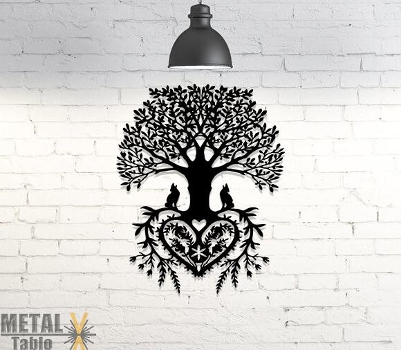 Hayat Ağacı Tribal Yaşam Metal Tablo