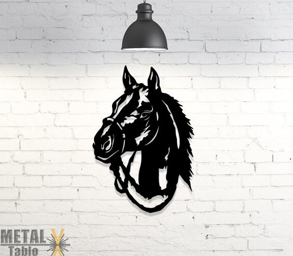 At Başı Metal Tablo Duvar Dekoru Lazer Kesim