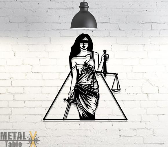 Adalet Sembolu 3 Lazer Kesim Metal Tablo