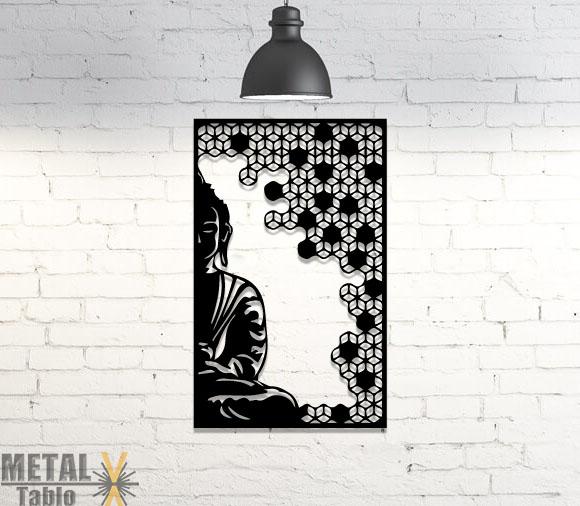 Buda Posteri Dekoratif Lazer Kesim Metal Tablo