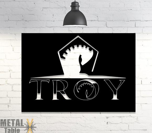 Troy Firmaya Özel Logo Metal Tablo
