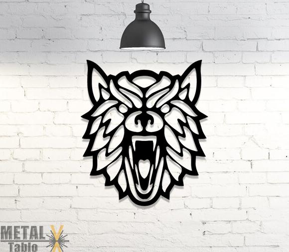 Tilki Başı Duvar Dekoru Lazer Kesim Metal Tablo