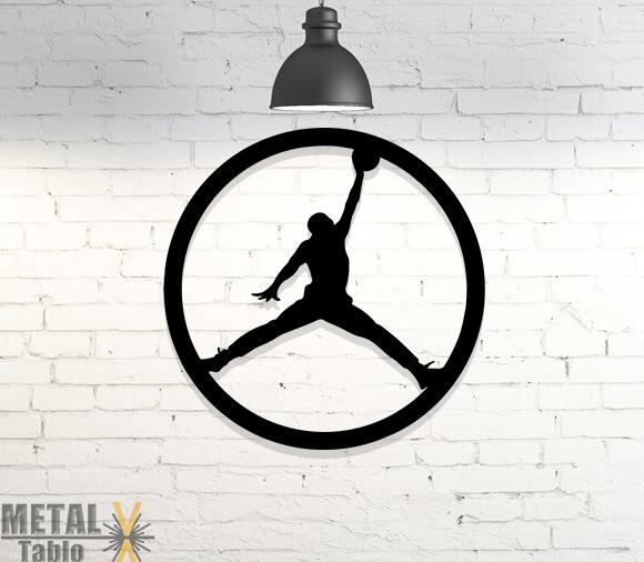 Michael Jordan Lazer Kesim Metal Tablo