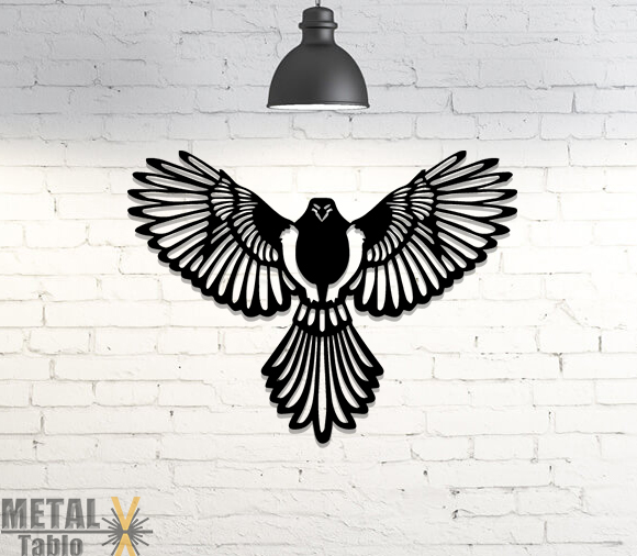Kartal Eagle Lazer Kesim Metal Tablo