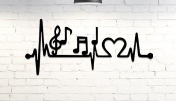 Müzik Kalp Ritmi Metal Tablo