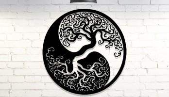 Hayat Ağacı Lazer Kesim Metal Tablo