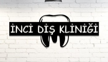 Diş Doktoru Kişiye Özel Lazer Kesim Metal Tablo