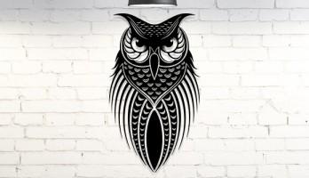 Baykuş Metal Tablo Duvar Dekoru