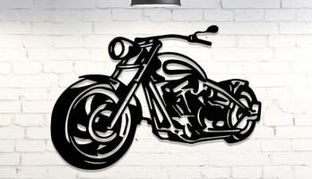 Harley Davidson 2 Motor Metal Tablo