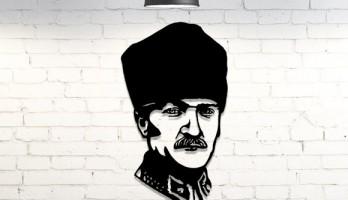 Mustafa Kemal Atatürk Dekorasyon Metal Tablo