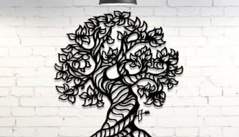 thumb Soy Ağacı Desenli Metal Tablo