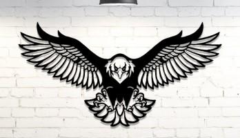 Kartal Beşiktaş Eagle Lazer Kesim Metal Tablo