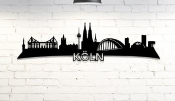Köln Siliüeti Lazer Kesim Metal Tablo
