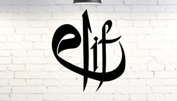 Kuran'ın ilk Harfi Elif Metal Tablo Duvar Dekoru