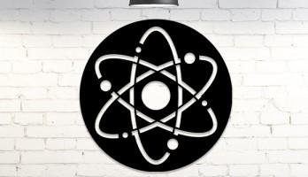 Atom Sembolü Lazer Kesim Metal Tablo