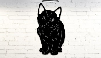 Masum Kedi Yavrusu Metal Tablo
