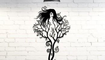 thumb Ağaç Kadın Lazer Kesim Tablo