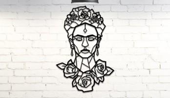 Magdalena Carmen Frida Kahlo Calderon Metal Tablo