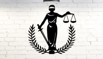Adalet Tanrısı Themis Heykeli Metal Tablo