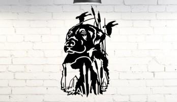 Avcı Köpeği Lazer Kesim Metal Tablo Duvar Dekoru