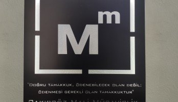 Mali Müşavirlere Özel Ledli Metal Tablo