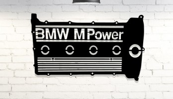 Bmw M Power Motor Kapağı Metal Tablo