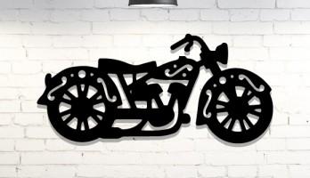 Motosiklet Lazer Kesim Metal Tablo
