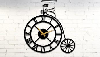 thumb Roma Rakamlı Bisiklet Metal Duvar Saati