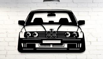 Bmw E30 Araba Lazer Kesim Metal Tablo