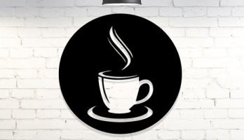 Kahve Fincanı Metal Tablo Dekorasyon