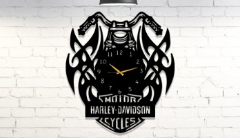 Harley Davidson Metal Duvar Saati