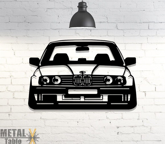 Bmw E30 Araba Lazer Kesim Metal Tablo